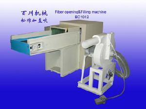 fiber carding pillow filling machine