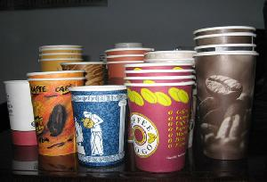 coffee paper cups 6oz 22oz