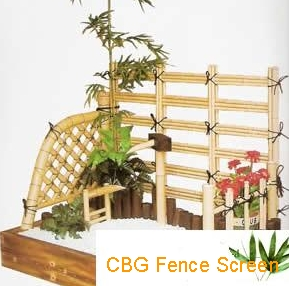 bamboo fence screen conor decor fountain spout
