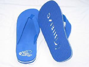 promotional flip flop slippers sandals die cut logo printing