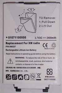 xm radio battery delphi txm1000