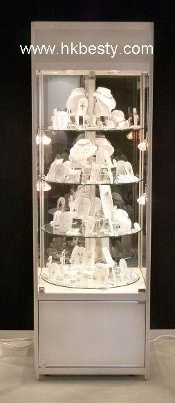 Tower Jewellery Display Showcase Glass Cabinet Watch