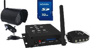 2 4ghz wireless camera mini dvr portable mobile sd card built 4ch receiver