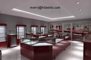 cherry wood kiosk jewellery display showcase counter store