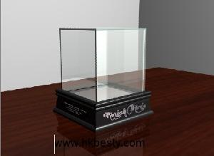 exquisite wooded glass watch display showcase