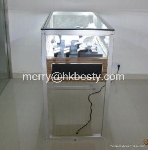 glass jewelry display showcase diaplay counter power led light