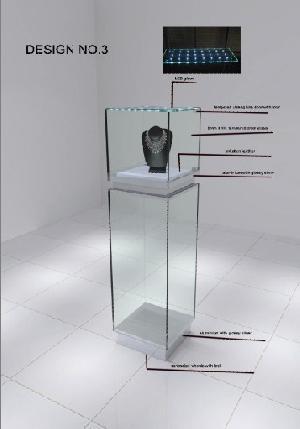 glass jewelry display showcase diamond watch exhibition
