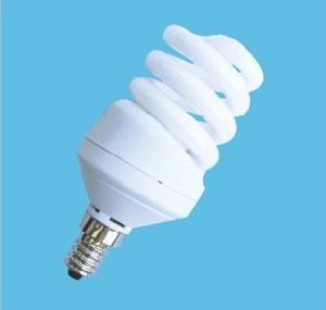 horizontal spiral compact fluorescent lamp