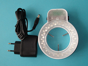 microscópios estéreo led ring light 48 lâmpadas