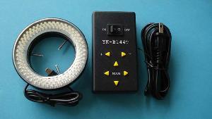yk b144t 61 milímetros de diâmetro aberto conduziu luz anel para microscópio estéreo 4 controle