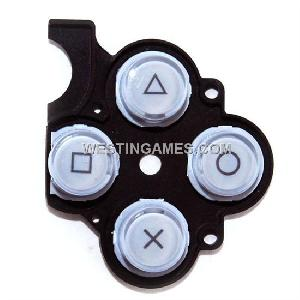 Keystoke With D-pad Rubber Silver For Psp Slim / 2000 Original