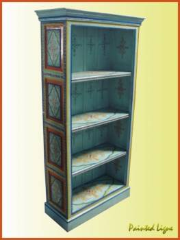 Hand Painted Bookcases Indian Painted Furniture