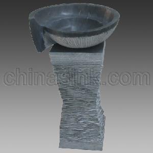 bluestone pedestal sink