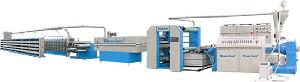 plastic woven bag tape extruding machine