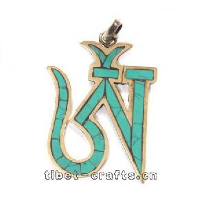 tibetan charm om symbol