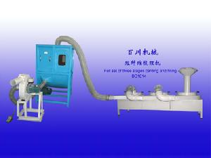 stages carding pillow filling machine