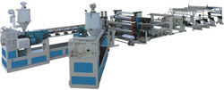 pbt abs hips pe pp ps sheet extrusion co line