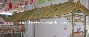 bamboo garden poles furnitures structures outdoor ornaments spa patio beach p