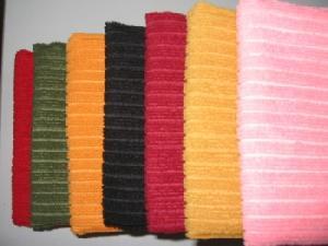 microfiber warp knitted stripe towel