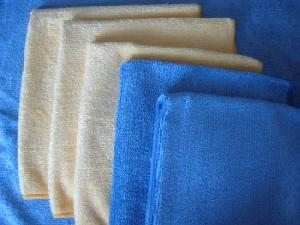 microfiber weft knitted shinny terry towel