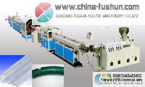 plastic machinery pvc fiber reinforcing pipe line