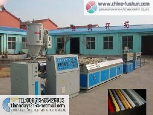 plastic machinery pvc profile line