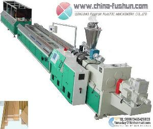 plastic machinery wood board line