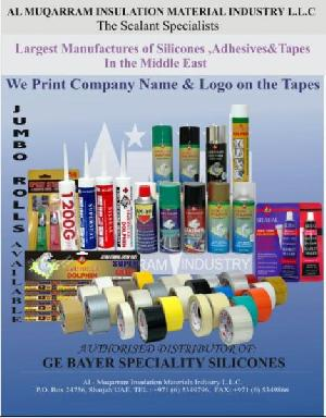 Silicone Sealant , Bopp Tape, Masking Tape, Super Glue, P.u Foam, Epoxy Steel, Spray Paint , Rtv Ges