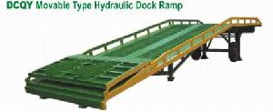 movable hydraulic dock ramp