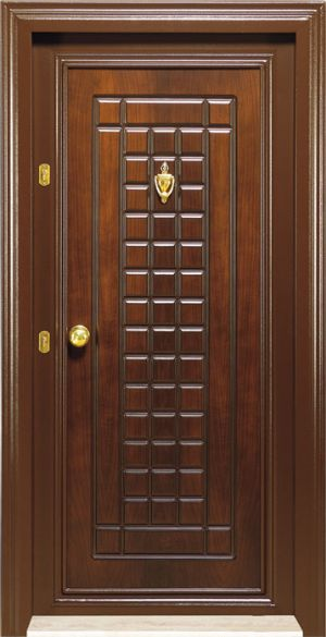 steel security door wooden