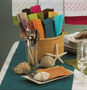 table linens napkins placemats runners cloth towels