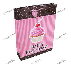 cherry cake birthday shopping paper bag - 17892-Cherry-Cake-For-Birthday-Shopping-Paper-Bag-1