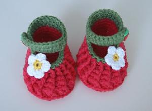 hand crochet baby shoe luxury