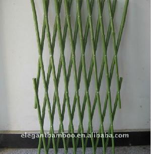 Pvc Coated Expanding Bamboo Trellis Fence