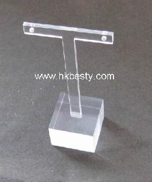 T Bust Earring Display Stand Bt Acrylic