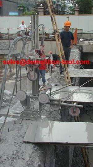 Diamond Wire Saw, Hydraulic Wire Saw N Big Concrete Block Cutting ...