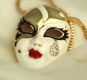 China Tribal Masks Pendant Necklace