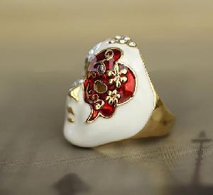 China Tribal Masks Ring