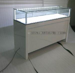 power led light jewelry display cabinet tower showcase page 1