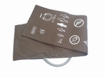Reusable Pu Leather Nibp Cuff With Single Tube Or Dual Tubes
