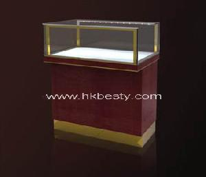 Wood work table for jewelry in store and jewelry store for Showcase table design