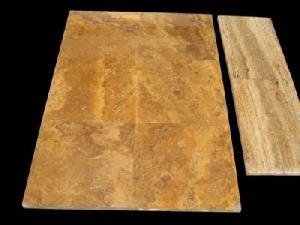 Giallo Yellowtravertine, Quality Natural Stone Blocks, Tiles And Slaps, Mosaics Of Marble