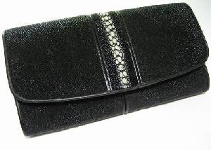 Stingray Leather Wallets Crocodile Alligator Ostrich Cowhide Snake Skin Purses Checkbook Belts