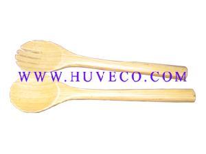 bamboo salad servers fork spoon