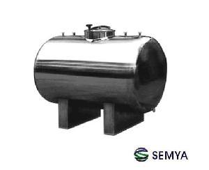 horizontal storage tank storaging milk drink beverage water oil