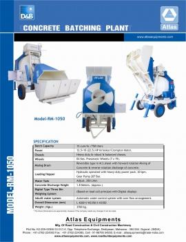 Mini Concrete Batching Plant 12 To 15 M3 / Hour India