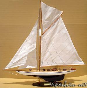 Viet Nam Wooden Model Sailing Boat Defender