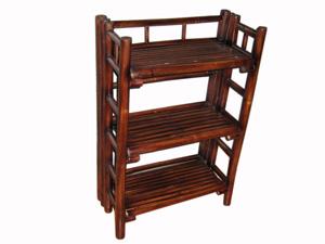 bamboo folding shelves