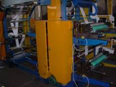 2 4 colours roll printing machine