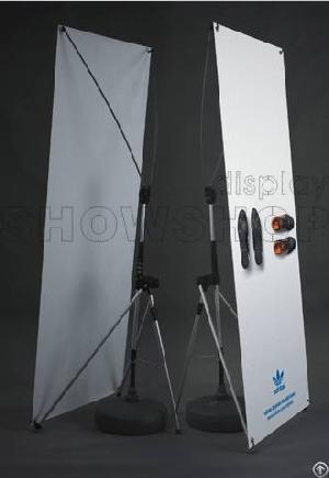 wind proof x banner exhibition stands outdoor